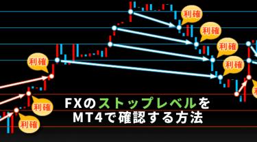 FXのストップレベルをMT4で確認する方法