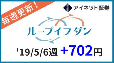 2019/5/6週のループイフダン運用実績は+702円!累計10000円突破!