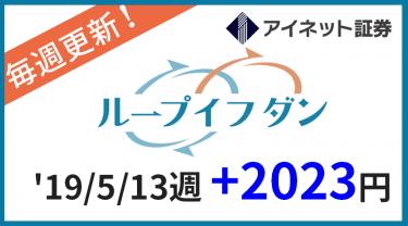 2019/5/13週のループイフダン運用実績は+2023円!累計11000円突破!